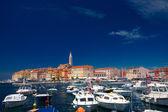 Croatia,Rovinj. View of the port — Stock Photo
