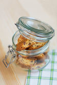 Jar of cookies — Stock Photo