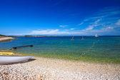 Croatian beach in the area of Premantura. — Stock Photo