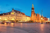 View of the market. Wroclaw, Poland. — Stock Photo