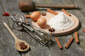 Components and accessories for baking — Stock Photo