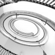 View the spiral stairs — Stock Photo