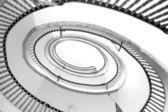 Bekijken van de spiraal trap — Stockfoto