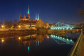 View of the Cathedral Island at night — Stock Photo