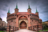 Barbican in Krakow, Poland. — Stock Photo