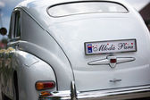 Details of the wedding car — Stock Photo