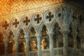 Doge's Palace architectural details in a retro style — Stock Photo