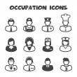 Occupation icons — Stock Vector #47189949
