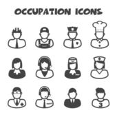 Occupation icons — Stock Vector
