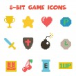 Постер, плакат: 8 bit item icons color