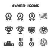 Award icons — Stock Vector