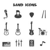 Band icons — Stock Vector