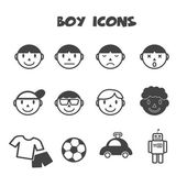 Boy icons — Stock Vector