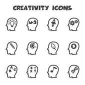 Creativity icons — Stock Vector