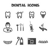 Dental icons — Stock Vector