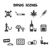 Drug icons — Stock Vector