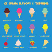 Ice cream flavors — Stock Vector