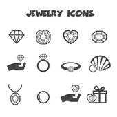 Jewelry icons — Stock Vector