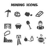Mining icons — Stock Vector