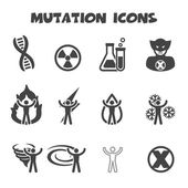 Mutation icons — Stock Vector