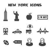 New york icons — Stock Vector