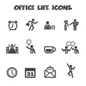 Office life icons — Stock Vector
