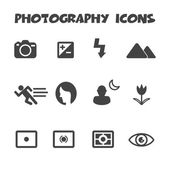 Photography icons — Stock Vector