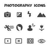 Icone di fotografia — Vettoriale Stock