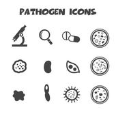 Pathogen icons — Stock Vector