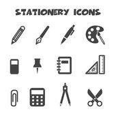 ícones de artigos de papelaria — Vetorial Stock