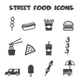 Street food icons — Stock Vector