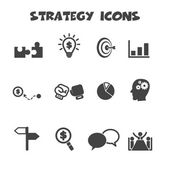 Strategy icons — Stock Vector