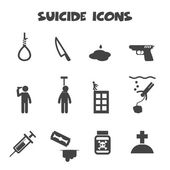 Suicide icons — Stock Vector