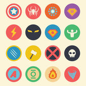 Superhero flat icons — Stock Vector