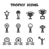 Трофей значки — Cтоковый вектор