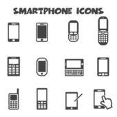 Smartphone pictogrammen — Stockvector