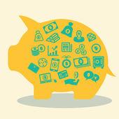 Konzept geld — Stockvektor