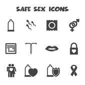 Safe sex icons — Stock Vector