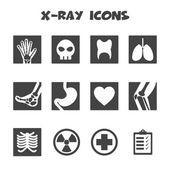 X-ray icons — Stock Vector