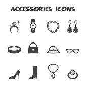 Accessories icons — Stock Vector