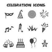 Celebration icons — Vector de stock