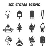 Ice cream icons — Vettoriale Stock