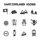 Switzerland icons — Stock Vector
