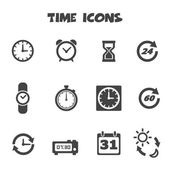 Time icons — Vettoriale Stock