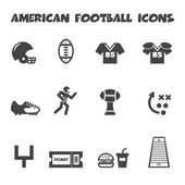 American football icons — Stock Vector