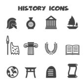 History icons — Stockvektor