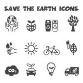 Save the earth icons — Stock Vector