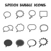 Speech bubble icons — Stock Vector