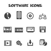 Software icons — Vector de stock