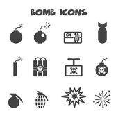 Icone di bomba — Vettoriale Stock